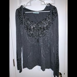 Maurices Tops - Hooded Long Sleeved Shirt